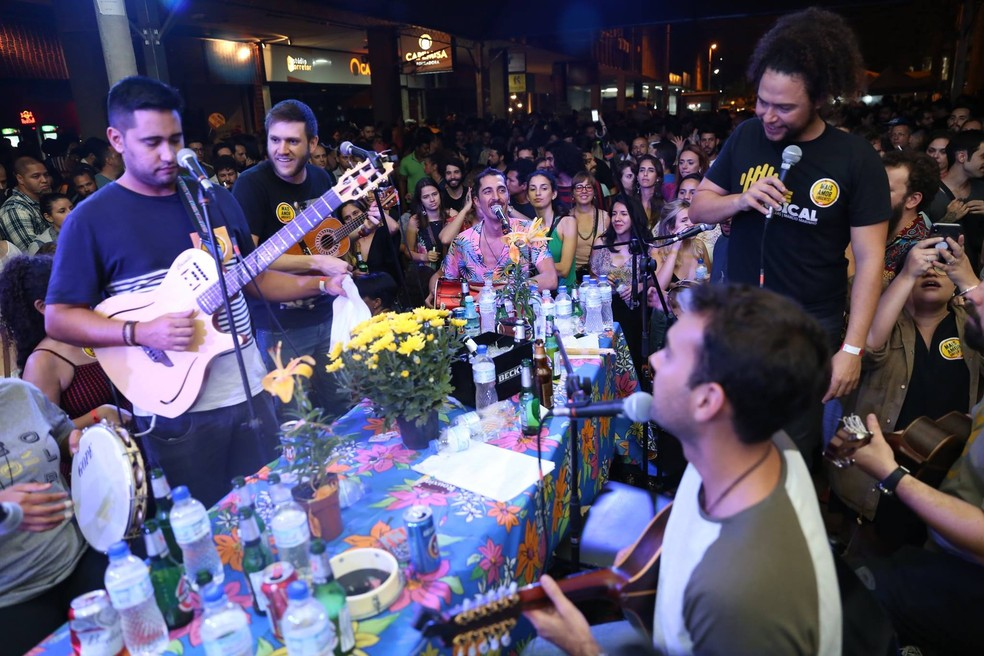 Evento Samba Urgente, no Setor Comercial Sul, em Brasília — Foto: Samba Urgente/Divulgação