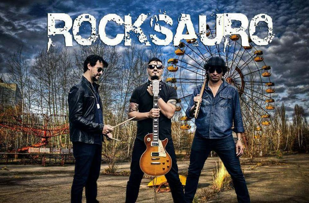 Banda Rocksauro se apresenta no Festival Jazz, Blues e Rock nas Alturas em Machado (MG) (Foto: Rocksauro/Divulgação)