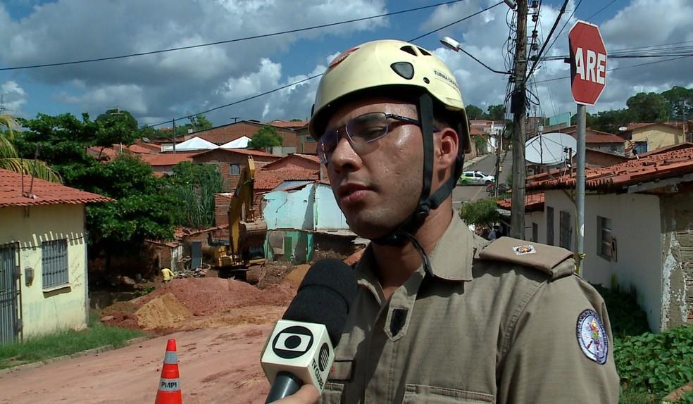 tenente do Corpo de Bombeiros Juarez Júnior — Foto: Reprodução/TV Clube