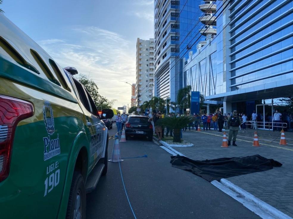 Corpo de Firmino Filho foi encontrado no prédio onde funciona o Tribunal de Contas da União (TCU) — Foto: Anielle Brandão/TV Clube