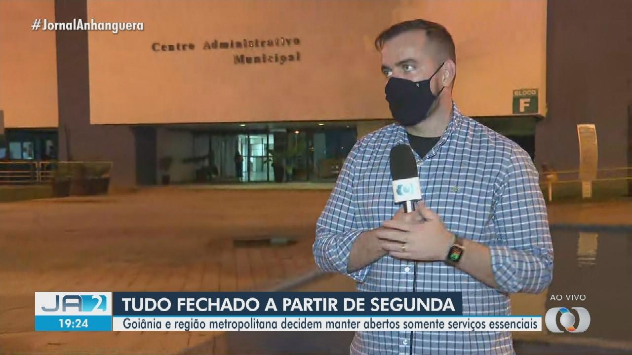 Goiânia e Região Metropolitana decidem manter abertos somente serviços essenciais