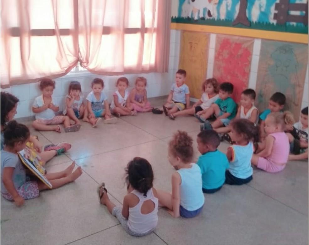 Crianças aprenderam a conviver e lidar com sentimentos durante o projeto — Foto: Karina Munhoz/Arquivo pessoal