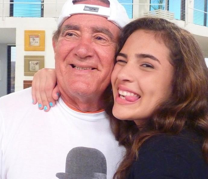 Renato Aragão e a filha Lívian Aragão (Foto: Arquivo Pessoal)