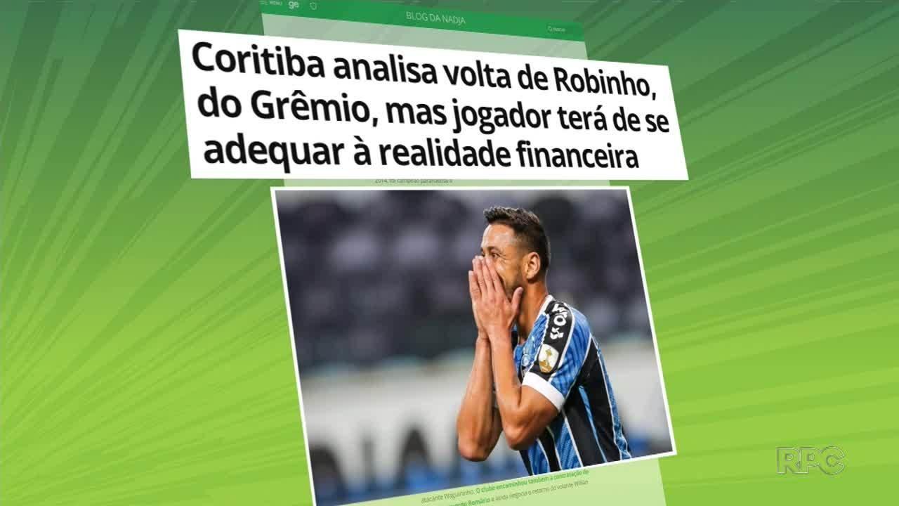 Robinho pode voltar ao Coritiba e lateral Romário já está no CT da Graciosa
