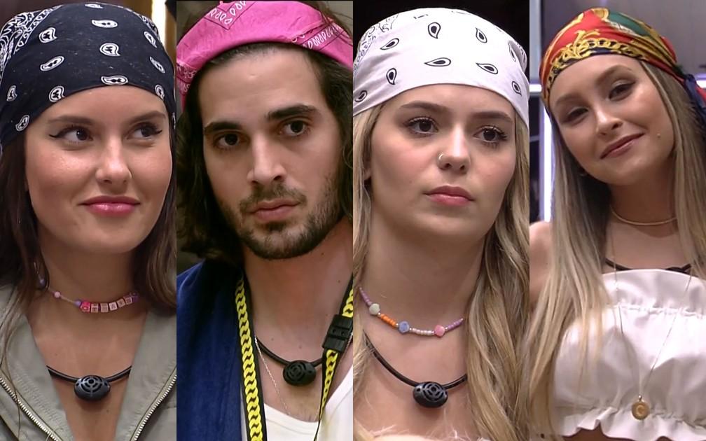 1ª metade do 'BBB21' foi marcada pelos lenços e bandanas dos participantes — Foto: Reprodução/TV Globo