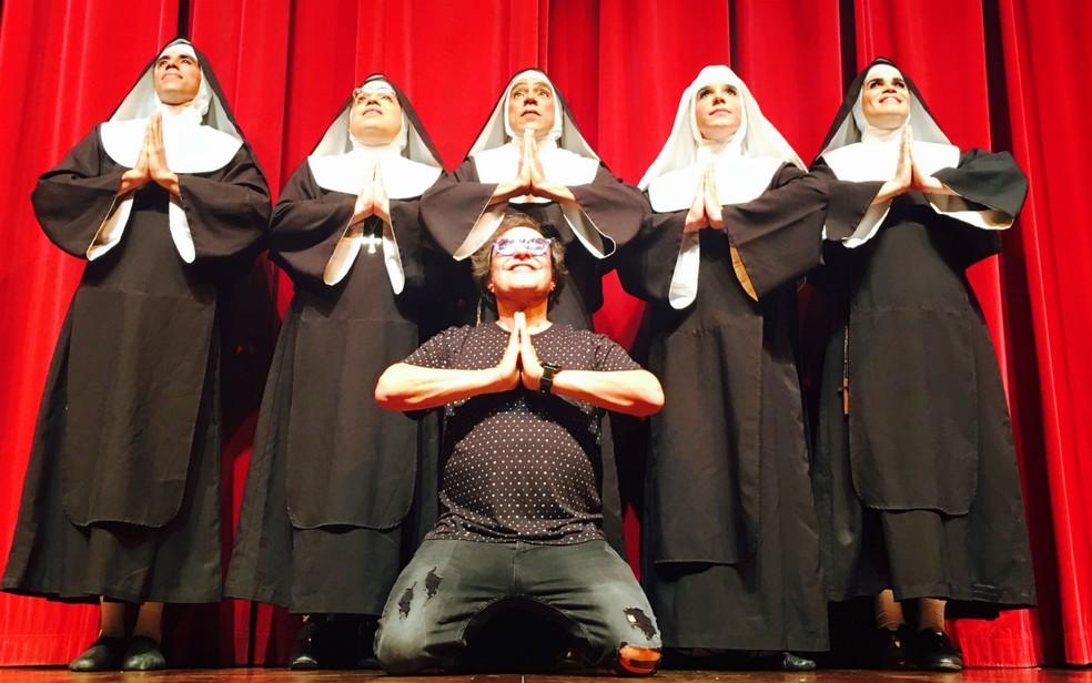 Musical 'As Noviças Rebeldes' está em cartaz em teatro de Salvador (Foto: Genilson Coutinho/Divulgação)