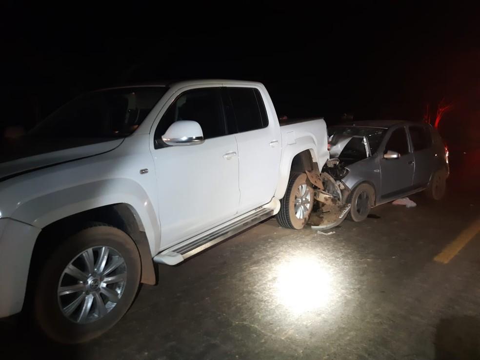 Cinco pessoas ficaram feridas durante o acidente e foram encaminhadas para o Hospital Municipal de Imperatriz — Foto: Divulgação/Polícia Rodoviária Federal