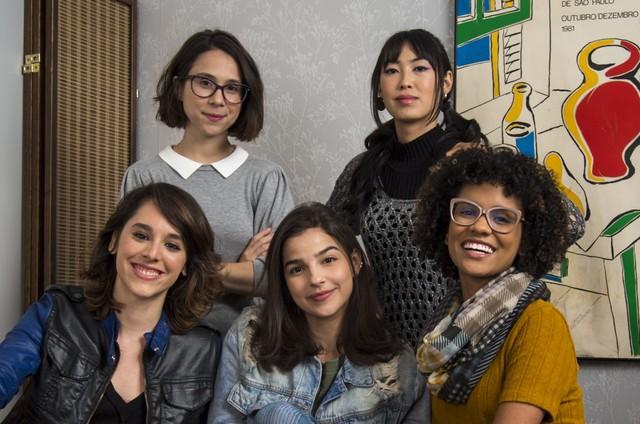 Daphne Bozaski, Manoela Aliperti, Gabriela Medvedovski, Ana Hikari e Heslaine Vieira, de 'As Five' (Foto: Divulagação)