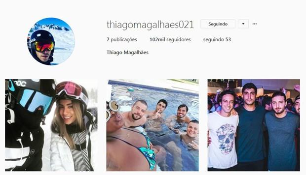 Perfil de Thiago Magalhães no Instagram (Foto: Reprodução/Instagram)