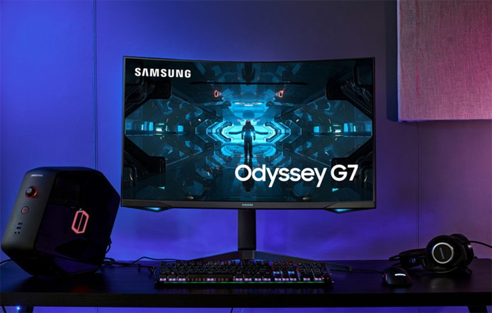 Samsung Odyssey G7 começa a ser vendido globalmente em junho — Foto: Divulgação/Samsung