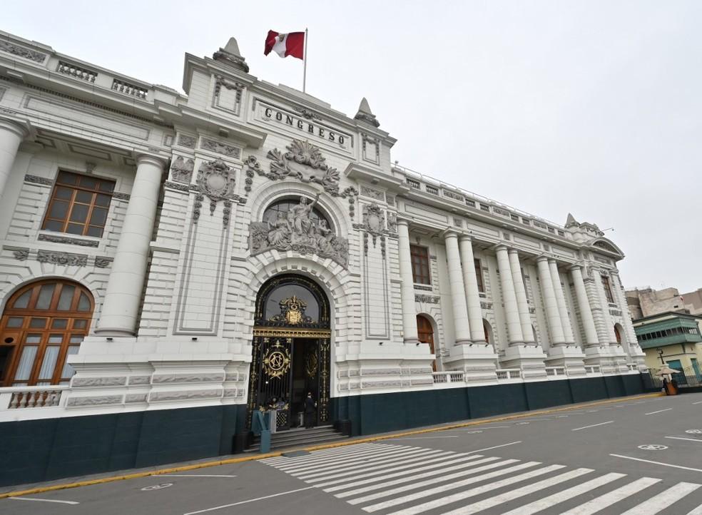 Prédio do Congresso peruano em Lima. — Foto: Cris Bouroncle / AFP
