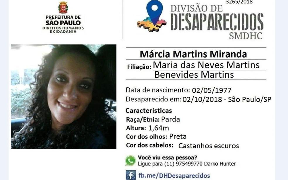 Polícia investiga desaparecimento de assistente social â?? Foto: Reprodução/Facebook