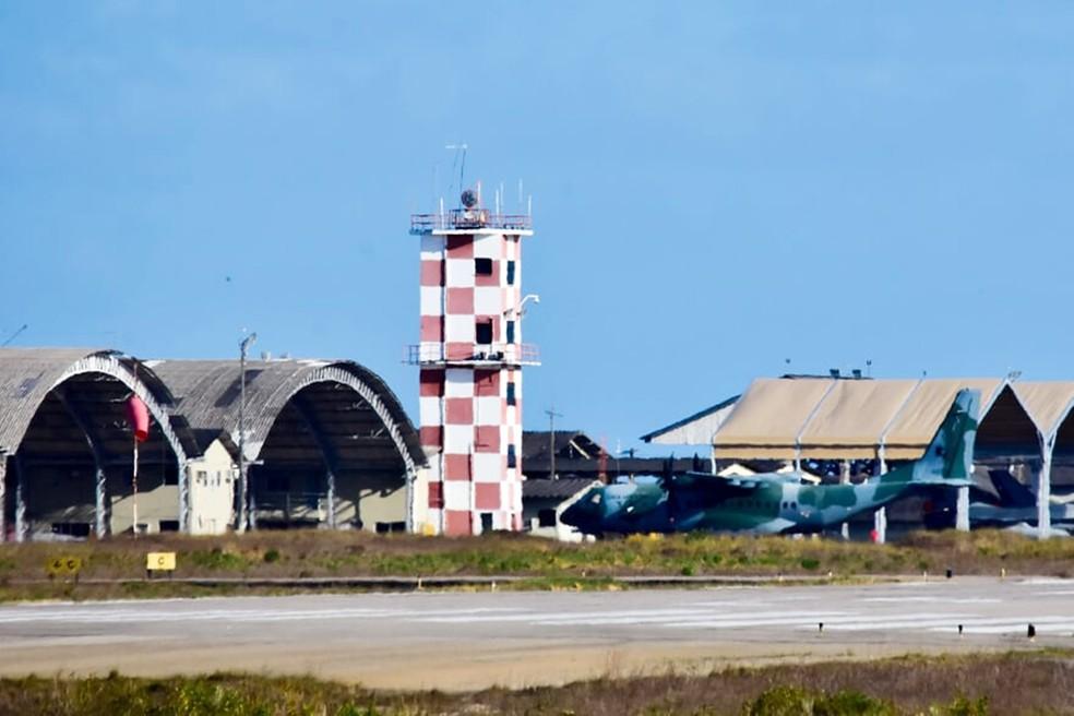 CRUZEX 2018 tem pousos e decolagens na Base Aérea de Natal — Foto: Pedro Vitorino