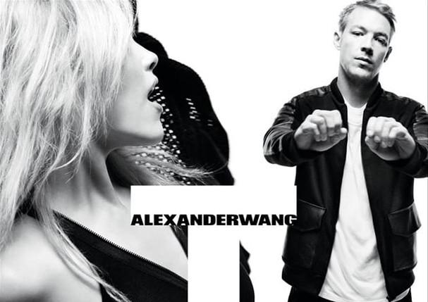Diplo no comercial da Alexander Wang, em 2011 (Foto: Reprodução)