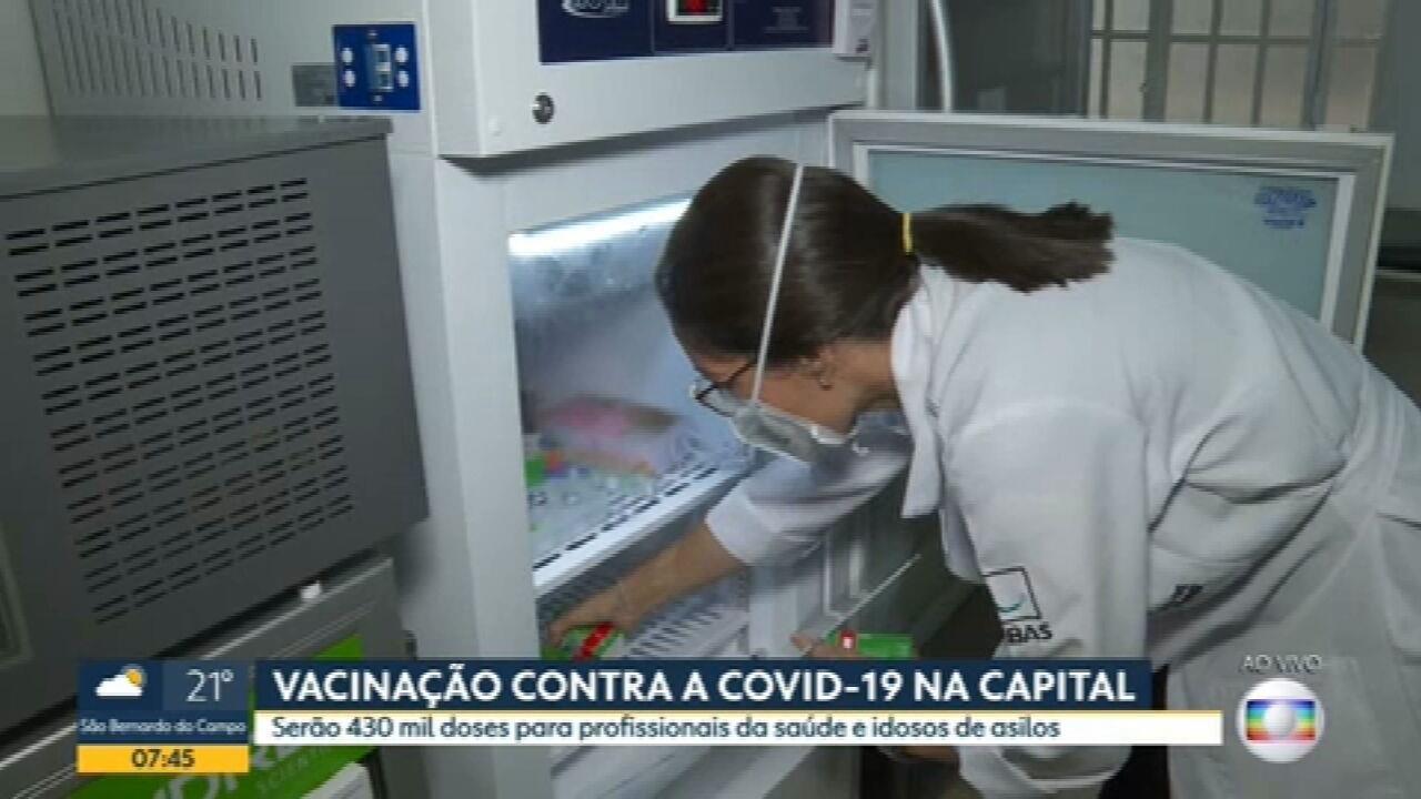 SP recebe 430 mil doses para vacinação contra Covid