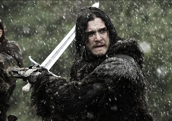 O ator Kit Harington no papel do herói Jon Snow em 'Game of Thrones' (Foto: Reprodução)
