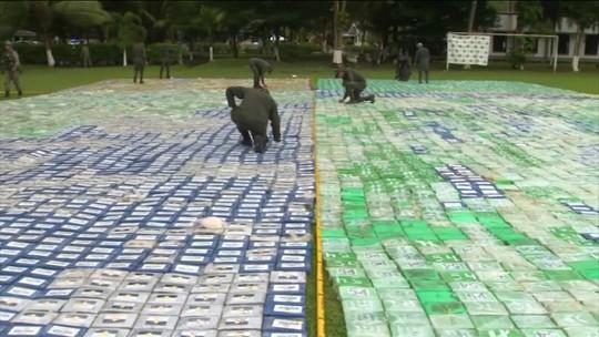 Colômbia apreende 12 toneladas de cocaína em operação