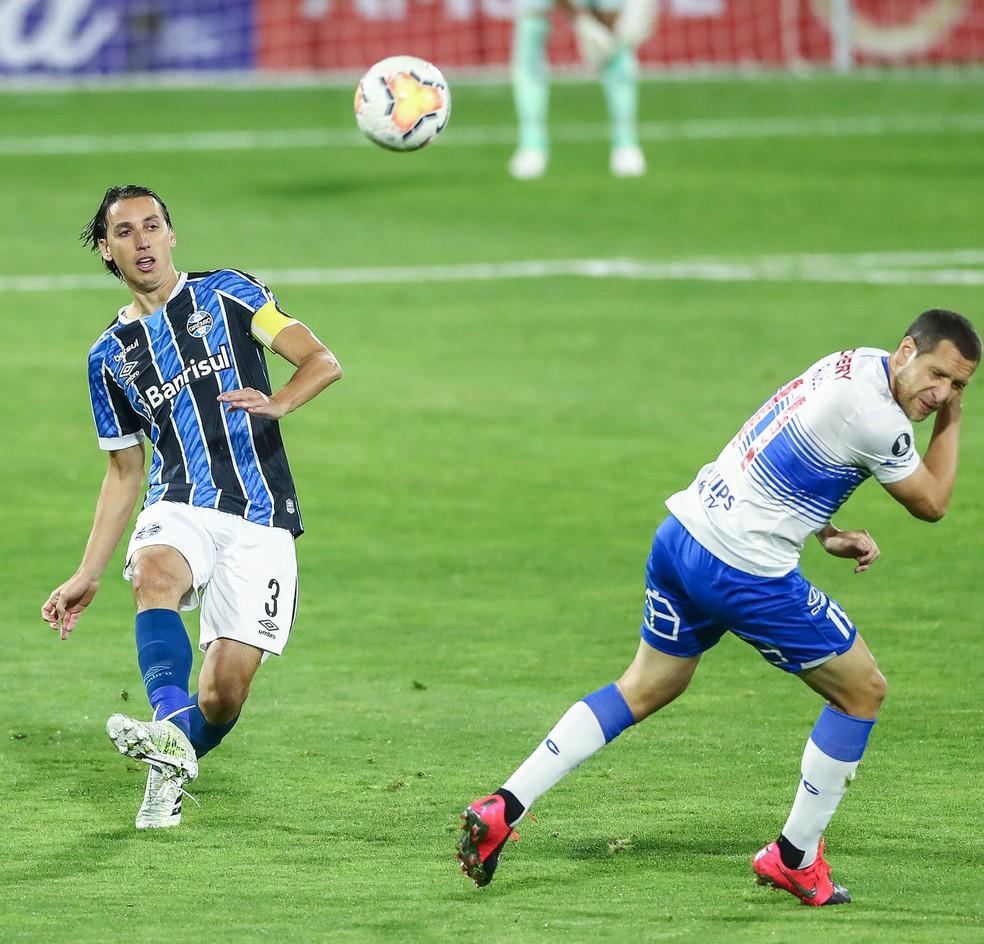 Geromel Grêmio x Católica — Foto: Lucas Uebel/Divulgação Grêmio