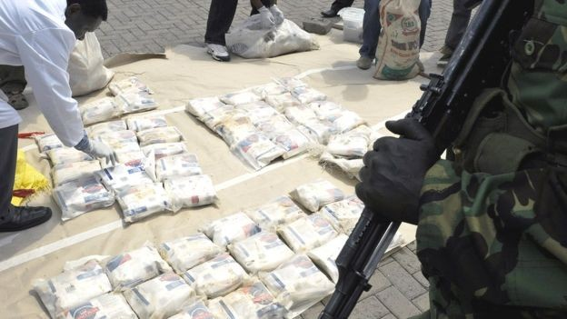 Reforço no combate às drogas no leste da África empurrou o tráfico para o sul do continente  (Foto: AFP via BBC)