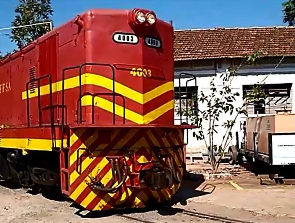 A locomotiva do Circuito Ferroviário Vale Verde (CFVV) (Foto: Circuito Ferroviário Vale Verde (CFVV))