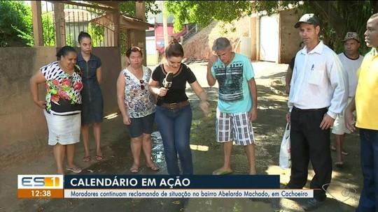 Calendário do ESTV está no bairro Abelardo Machado, em Cachoeiro de Itapemirim, ES