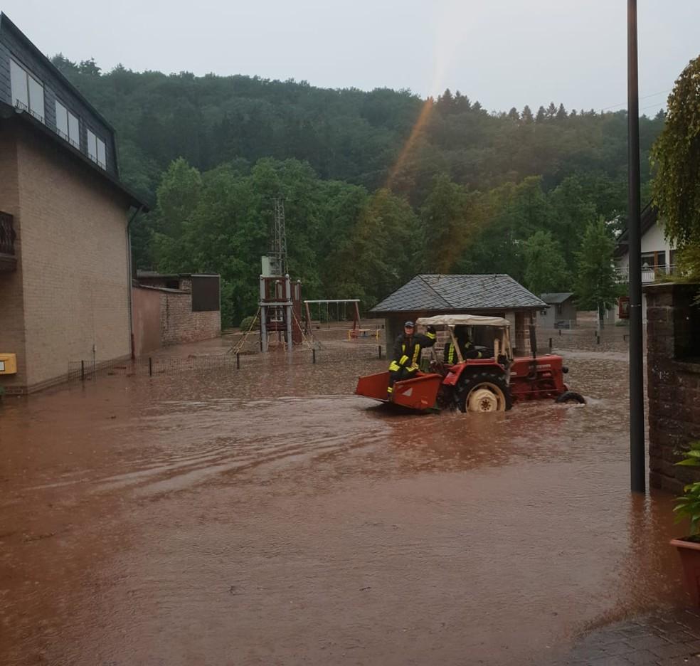 Imagem feita em 15 de julho em Seffern, na Alemanha — Foto: Roselene Kunz Reischel/Arquivo Pessoal
