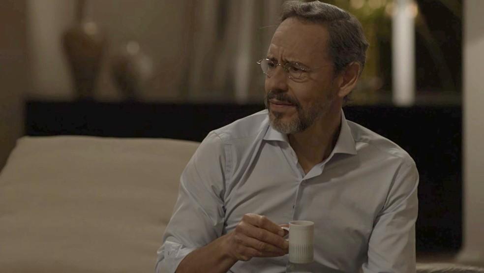 Henrique no entende a atitude da esposa Foto TV Globo