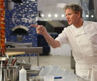 Gordon Ramsay no 'Hell's Kitchen'   Reprodução
