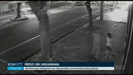 Suspeito de esfaquear ex-namorada no Centro de Umuarama é preso