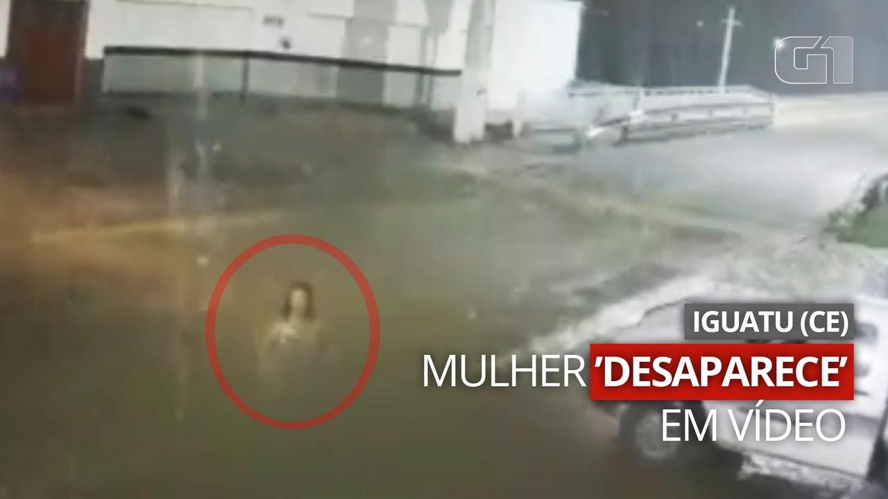 Vídeo que mostra mulher 'desaparecendo' em rua intriga moradores de Iguatu