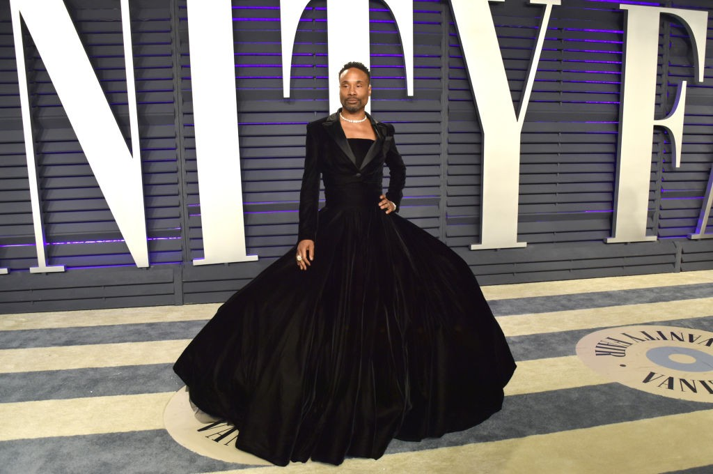Billy Porter usa vestido do designer Christian Siriano, na festa do Oscar da Vanity Fair 2019 (Foto: John Shearer/Getty Images)