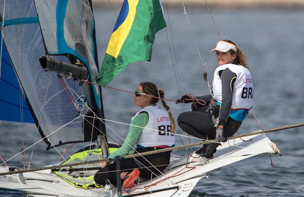 Kahena Kunze e Martine Grael — Foto: Jonne Roriz / COB