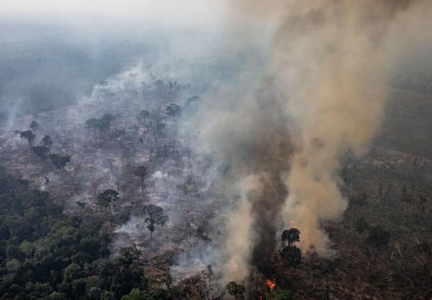 Incêndio na Amazônia, perto de Porto Velho - queimadas - fogo (Foto: Victor Moriyama/Getty Images)