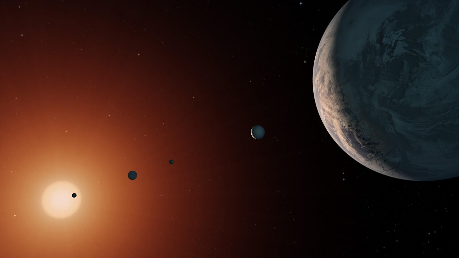 Representação do sistema planetário (Foto: Nasa)
