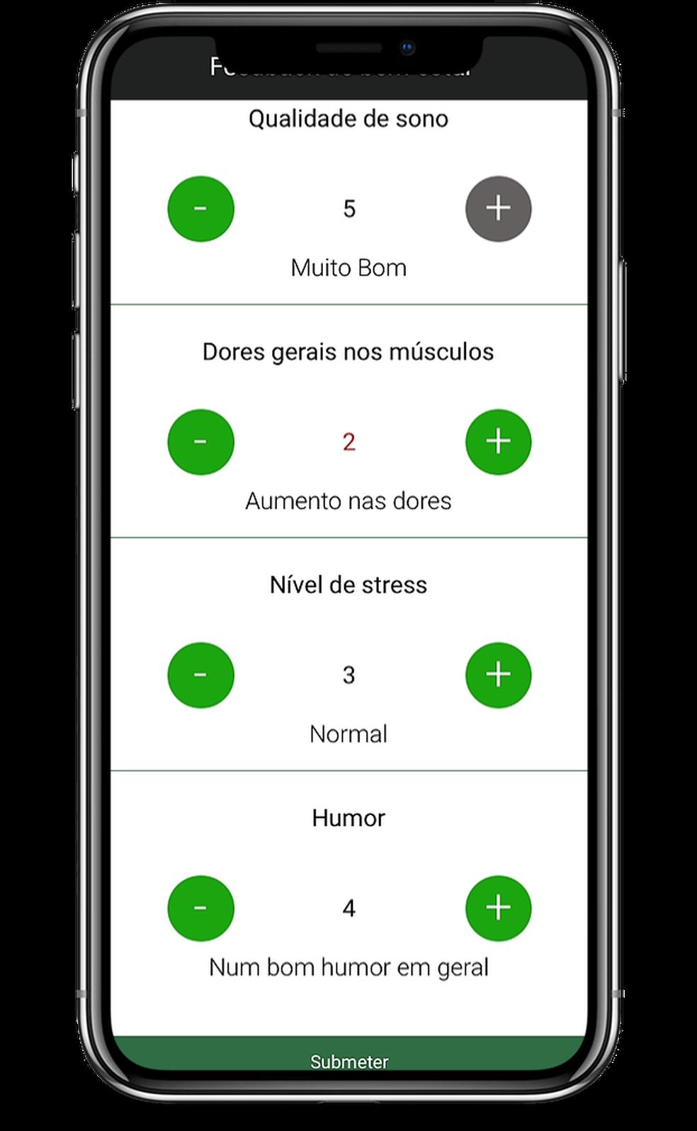 Aplicativo desenvolvido para os atletas — Foto: Divulgação