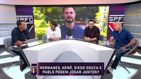 Nenê, Hernanes, Pablo e Diego Souza juntos no time do São Paulo? Comentaristas debatem