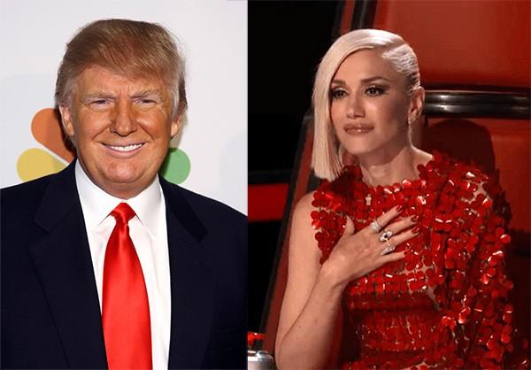Donald Trump e Gwen Stefani (Foto: Getty Images / Divulgação)