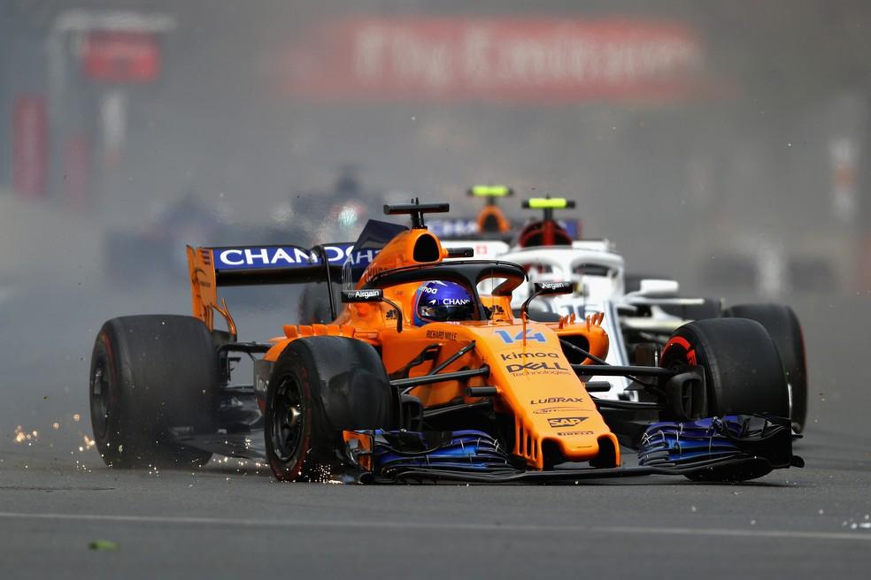 Fernando Alonso no GP do Azerbaijão (Foto: Dan Istitene/Getty Images)