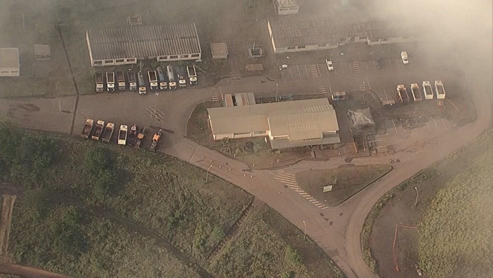 Segundo a Vale, foi executado o nível 1 do Plano de Ação de Emergência de Barragens de Mineração — Foto: Globocop