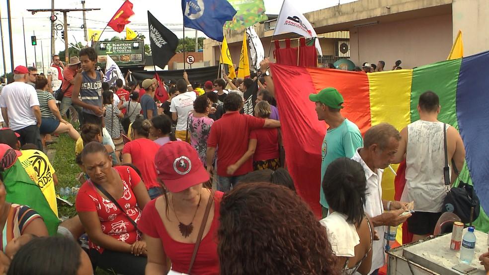 Manifestação contra Reforma da Previdência em João Pessoa — Foto: Reprodução/TV Cabo Branco