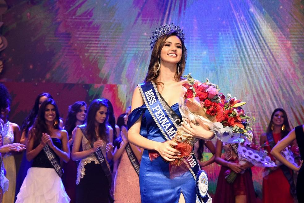 Caruaruense ganha concurso Miss Pernambuco 2018 (Foto: Jorge Qietido/ Divulgação)
