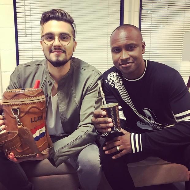 Luan Santana e Thiaguinho (Foto: Reprodução/Instagram)