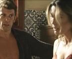 Milhem Cortaz e Flávia Alessandra em 'O Sétimo Guardião' | TV Globo