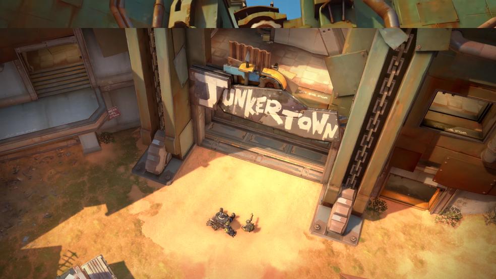 Junkertown é a casa de Junkrat e Roadhog (Foto: Reprodução)