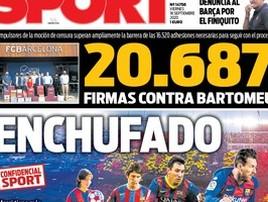 Sócios do Barcelona colhem assinaturas para destituir diretoria (Reprodução/Sport)