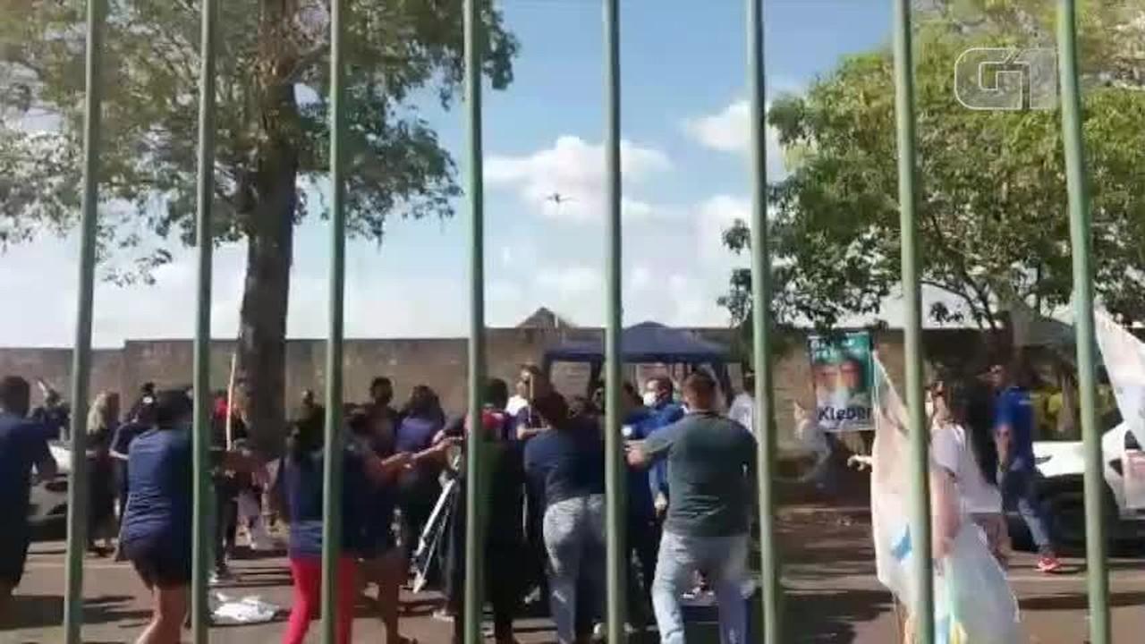 Vídeo mostra briga entre apoiadores de campanha de candidatos a prefeito de Teresina (PI)
