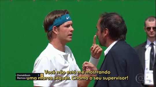 Norte americano Jared Donaldson perde a cabeça e discute com árbitro em Monte Carlo