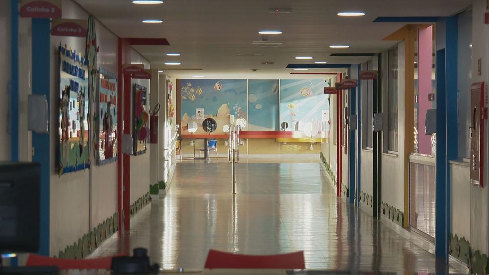Escola particular na Asa Norte, no DF, se prepara para a volta às aulas após a pandemia de coronavírus  — Foto: TV Globo/Reprodução