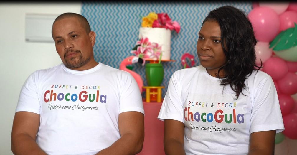 Luís e Luana comemoram expansão do negócio, mas são cautelosos para aumentar número de festas — Foto: Marcelo Brandt/G1