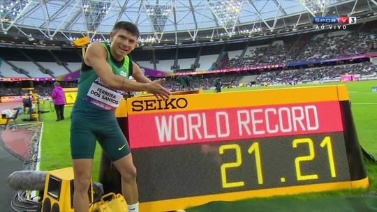 Petrúcio bate mais um recorde mundial e é campeão nos 200m em Londres